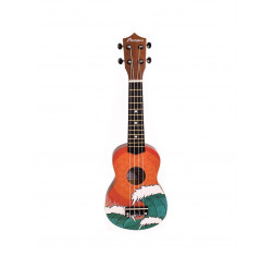 Ukelele Soprano B1E-OW Orange Wave