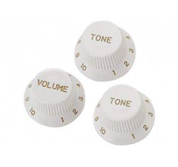 Set Botones Stratocaster Blanco