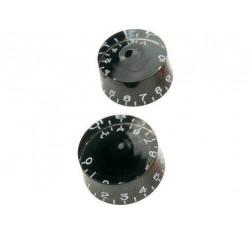 Set Botones Tipo Gibson Negro