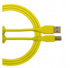 Cable USB 2.0 A-B Amarillo Recto 1m...