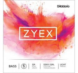 Cuerda Contrabajo 3/4 Sol(G) Zyex DZ611L