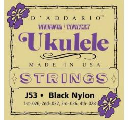 Juego J53 Hawaiian Ukelele Black Nylon