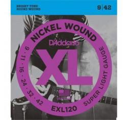 Juego EXL120 XL Nickel Wound 9-42