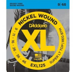 Juego EXL125 XL Nickel Wound 9-46