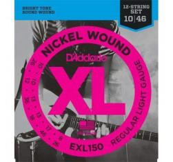 Juego EXL150 XL Nickel Wound 12 Cuerdas