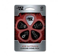 Juego de 5 Púas Joe Satriani Chrome Dome