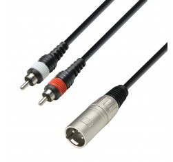 Cable XLR - 2x RCA 1m K3YMCC0100