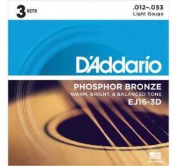 Set 3 juegos Phosphor Bronze EJ16-3D